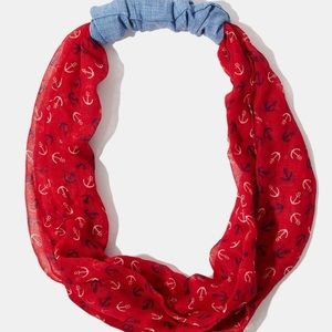 Charming Charlie's anchor infinity scarf